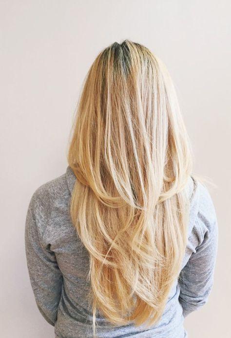 Gestufte Haare Sehr Lang Stufen Blond Hairstyles Haarschnitt Lange Haare Gestufte Haare Frisuren Lange Haare Stufen