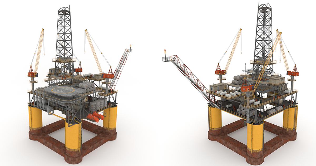 3d Game Ready Oil Rig Platform Pack For More Click To Link Model Verts 78 575 Oil Rig Rigs Oil Platform