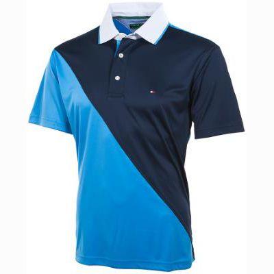 Tommy Hilfiger MacCoy Diagonal Mens Golf Shirt Midnight Blithe
