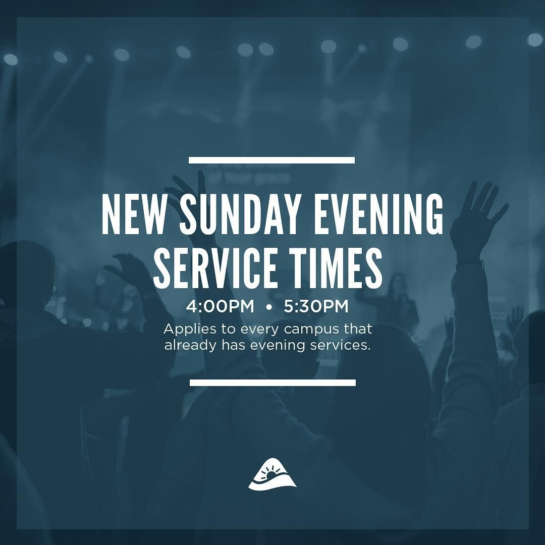 Have you heard the newest news? Our Sunday evening service