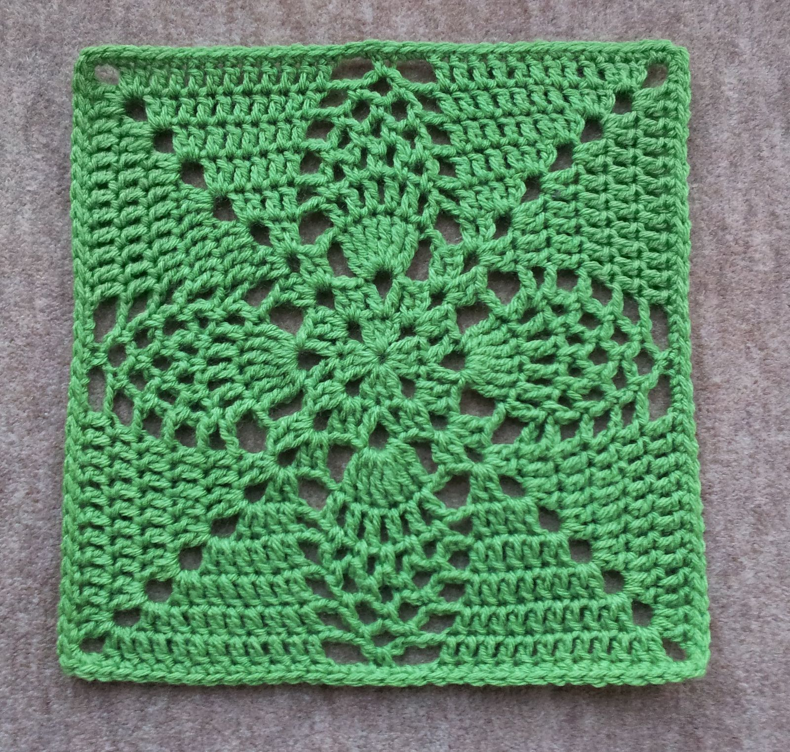 """Ravelry: Pineapple Granny 12"""" Pillow-ghan Square by Priscilla Hewitt ..."""