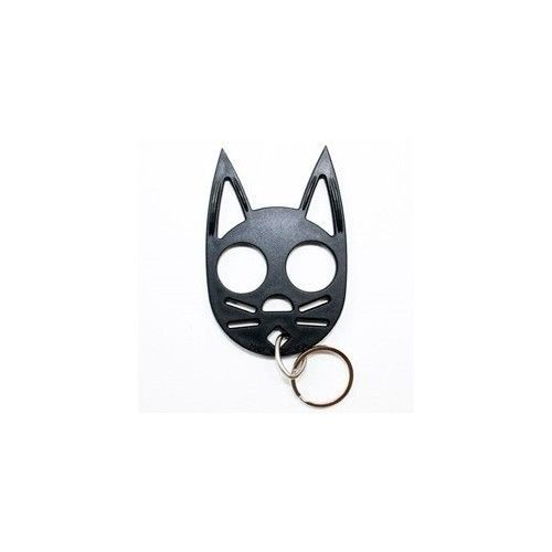 Kitty Cat Self Defense Key Chain Black Security Protection Fight