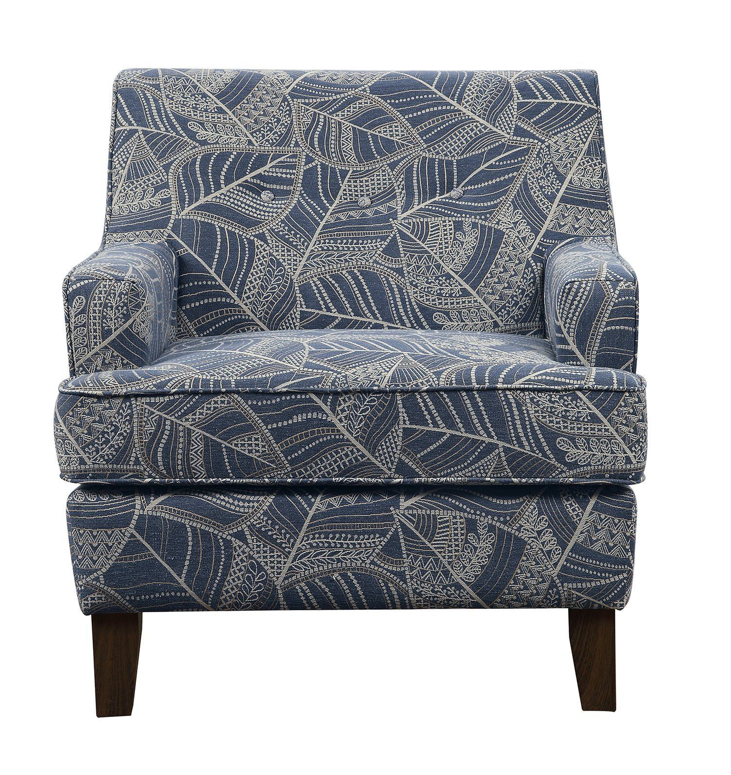 Best Astaire Dusty Blue And Beige Jacquard Chair – Flatfair 400 x 300