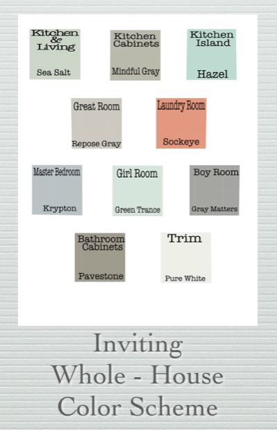 Inviting Whole House Color Scheme Creating A House Full Of