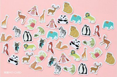 Sticker Flakes Box | Animals
