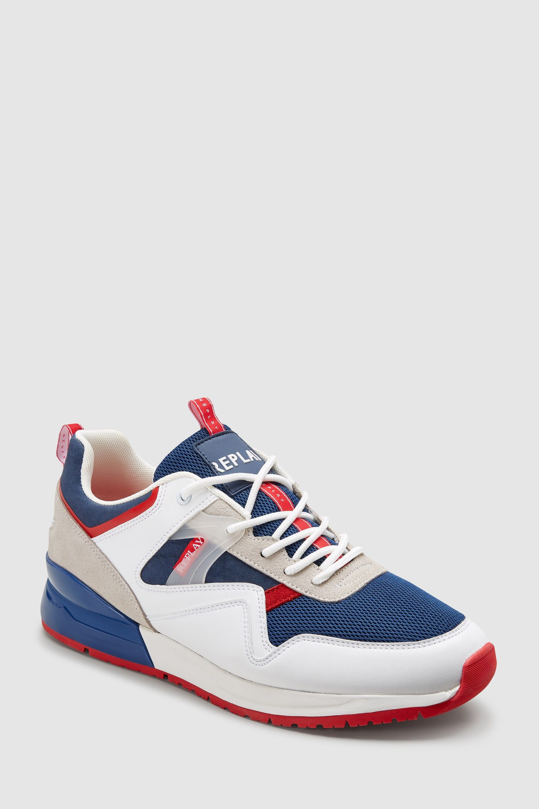 fd9660988a2df Mens Replay White Aways Trainer - White | denim home textile in 2019 ...