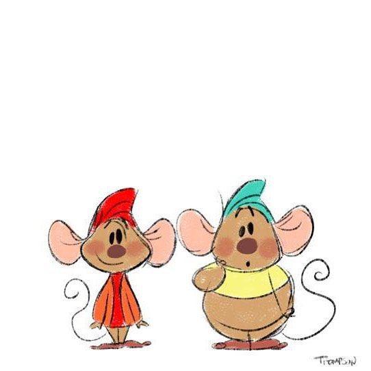 dessin de petite souris dans cendrillon - Souris Cendrillon