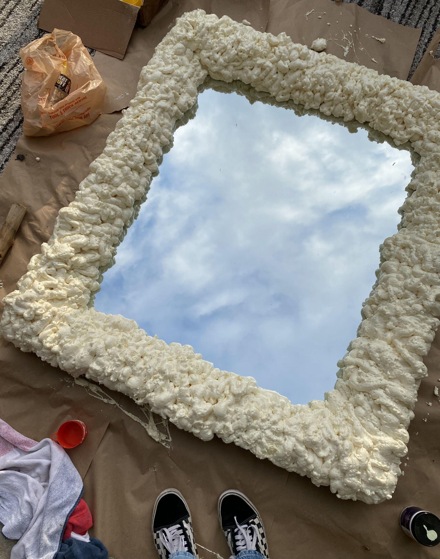 Diy spray foam mirror dos donts and how tos diy