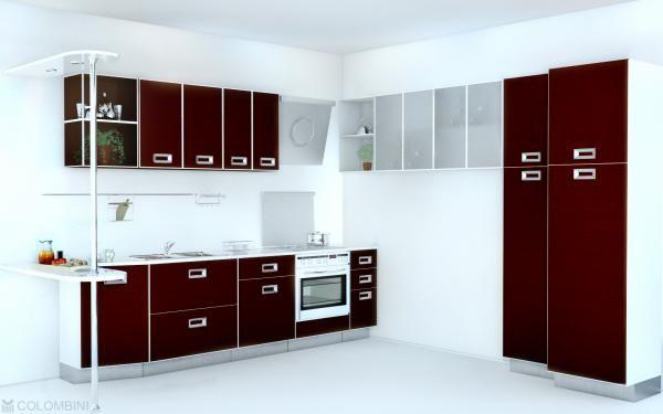 cool kitchen interior - Maroon Kitchen Decoration