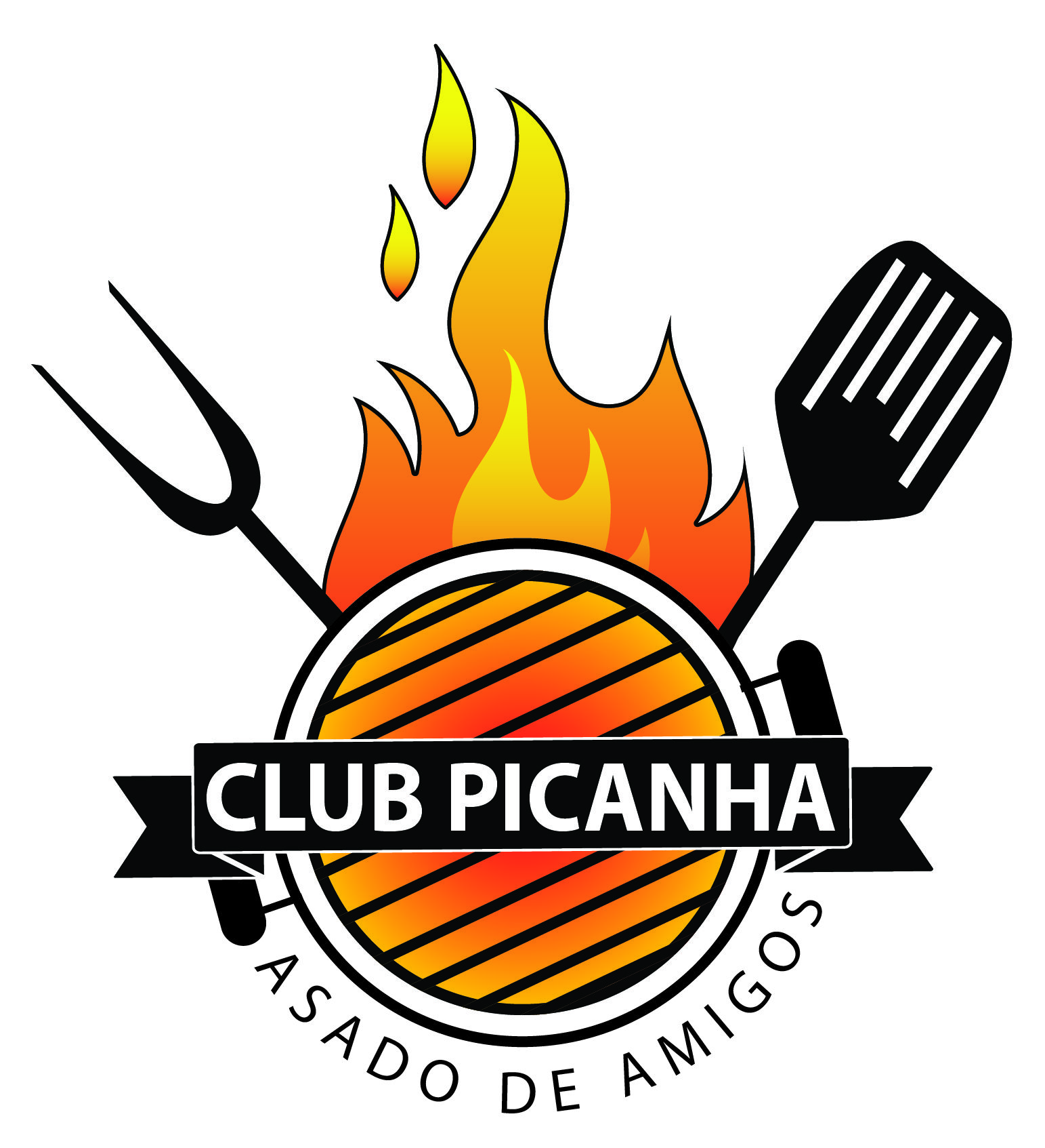 Logo for a barbecue group of friends Manualidades en