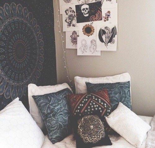 room indie tumblr tenture indienne mandala | Déco intérieur | Deco ...