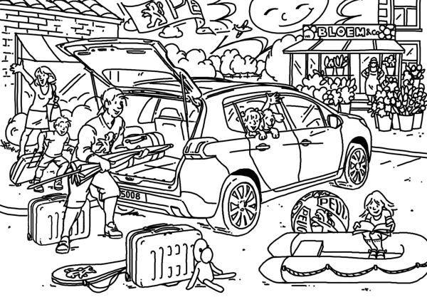 Kleurplaten Jaguar Auto.Peugeot Kleurplaten By Winifred Ros Via Behance Peugeot
