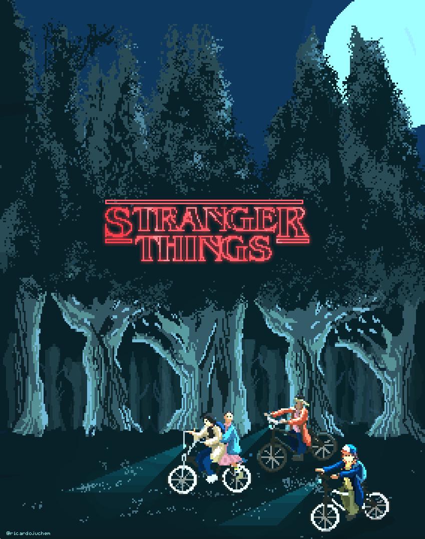 Stranger Things - Pixel Art Created by Ricardo Juchem   Stranger ...