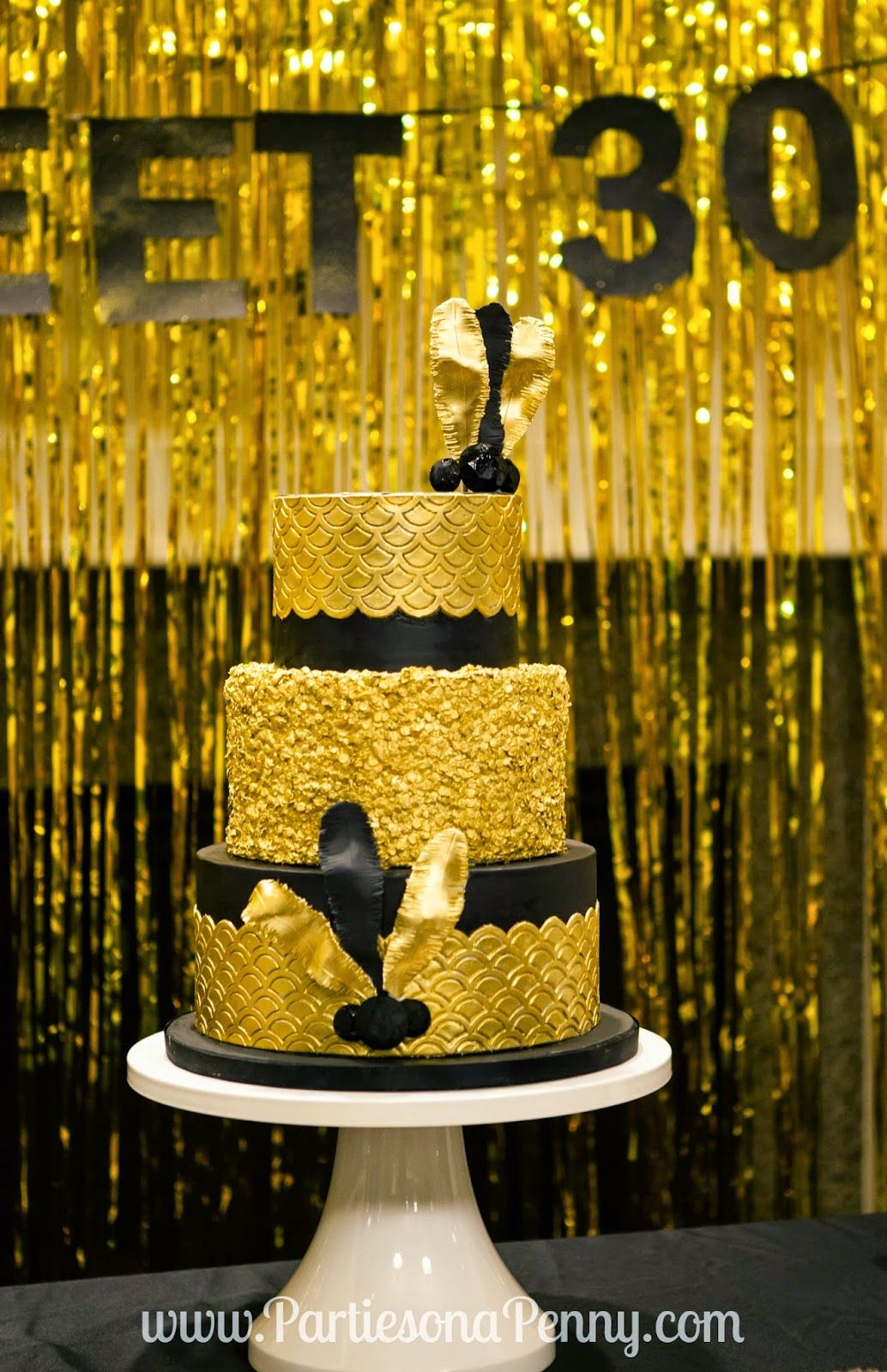 My goodbye roaring 20 39 s 30th birthday party art deco for Gold party