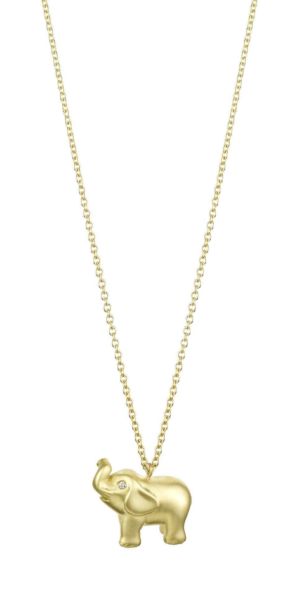 solid gold elephant necklace elephant necklace solid. Black Bedroom Furniture Sets. Home Design Ideas
