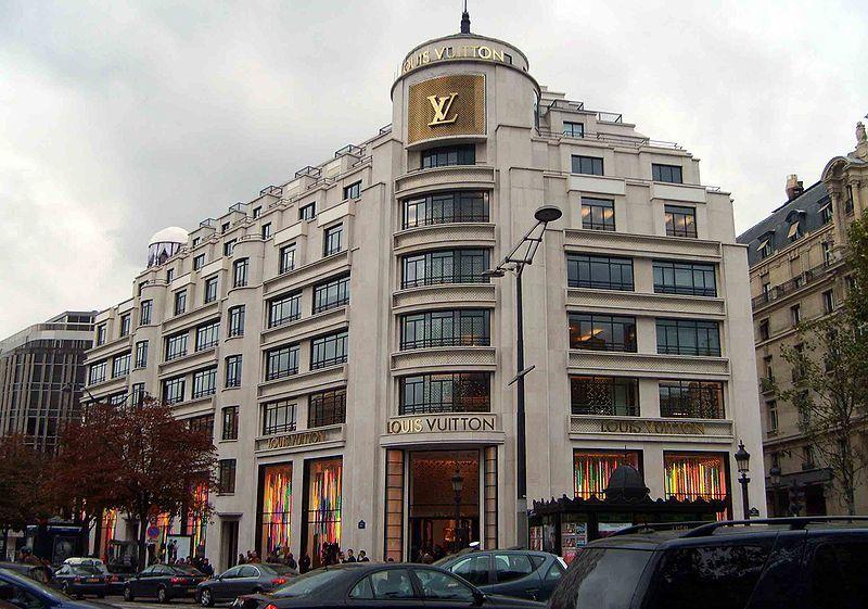 The Louis Vuitton Building opened on at at 101 avenue des Champs-Élysées 997d9d0e8d610