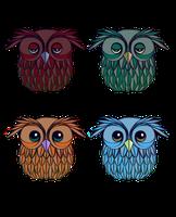 Owl Adoptables by Samantha-MacLean
