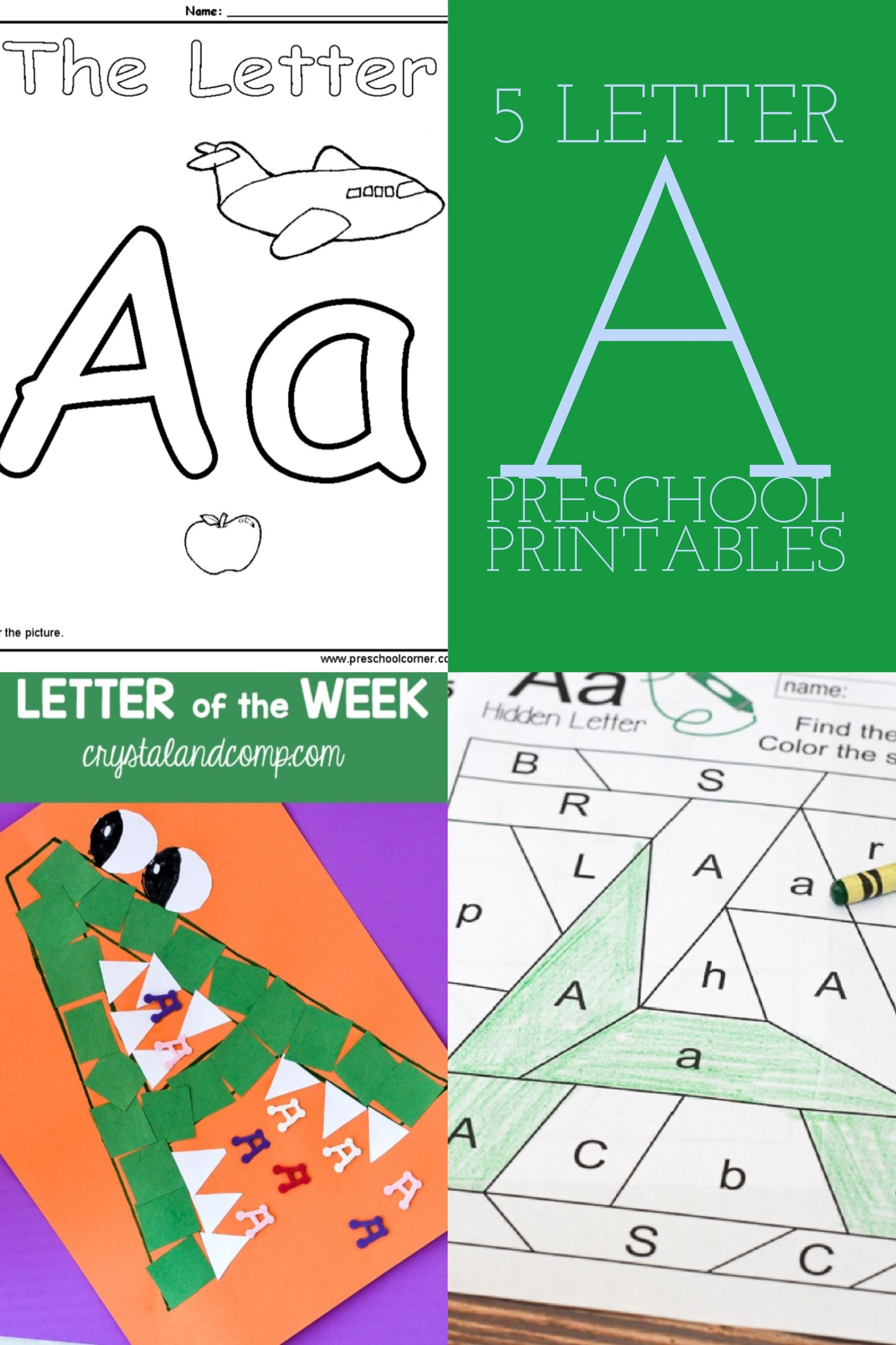 5 Letter A Preschool Printables | Preschool printables and Parents