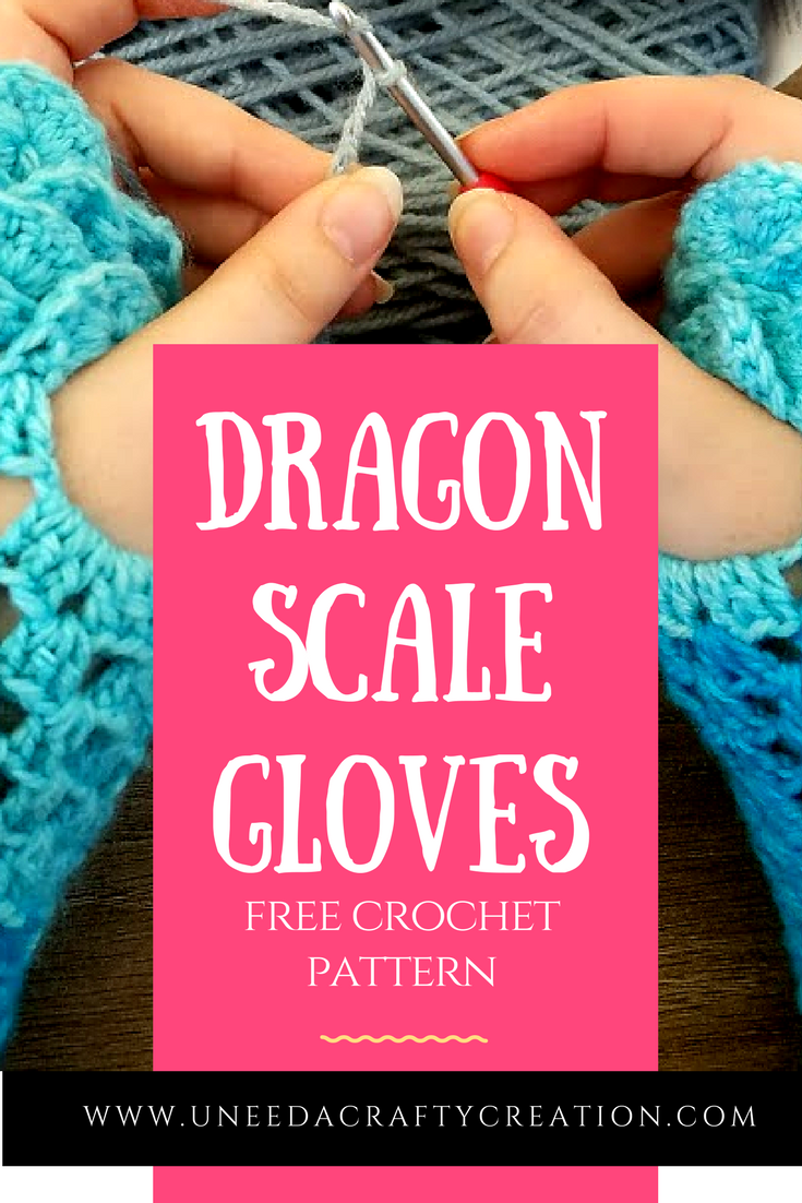 Dragon Scale Gloves Free Crochet Pattern: Dragon Scales are all the ...