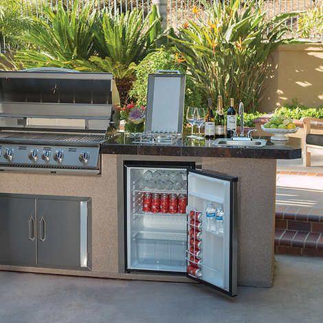 Urban Islands 4 5 Cu Ft Stainless Steel Refrigerator Outdoor Refrigerator Outdoor Fridge Outdoor Kitchen