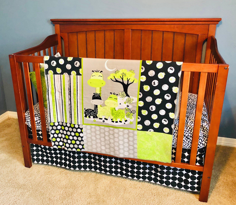 Crib Bedding Black And Green Crib Bedding Gender Neutral Crib