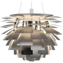 Photo of Louis Poulsen Ph Artichoke 840 3000K pendant lamp, polished stainless steel, Dali Louis Poulsen