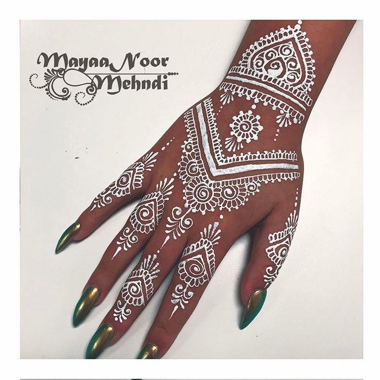 White Wedding Dress With Henna: White Henna For Prom