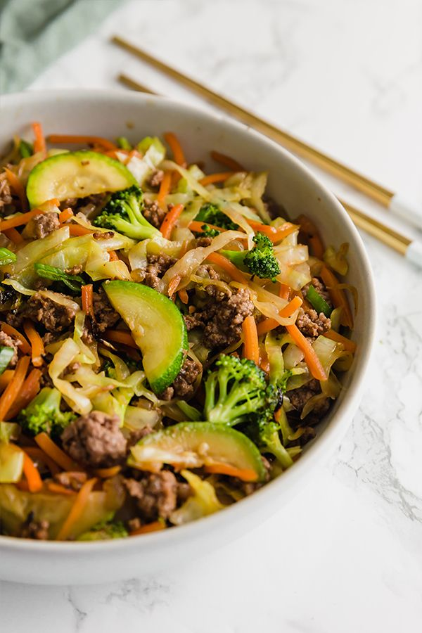 Ground Beef & Cabbage Stir Fry - Unbound Wellness