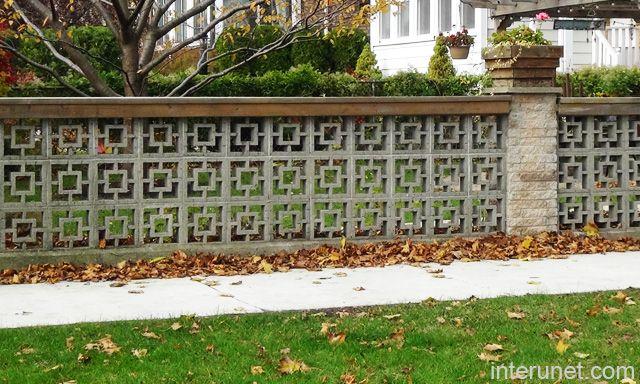 Brick Column Decorative Cement Blocks Fence Picture Interunet Backyard Fences Fence Landscaping Brick Fence