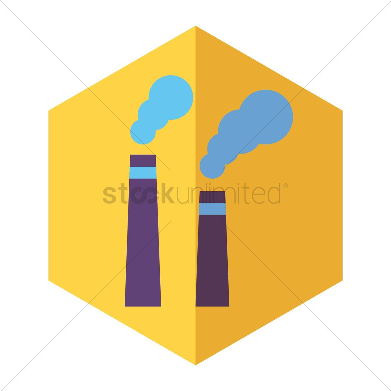 Factory chimney with smoke vectors stock clipart