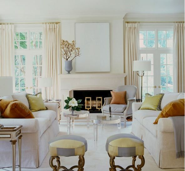 Fun Living Room Furniture: Suzanne Kasler + Hickory Chair
