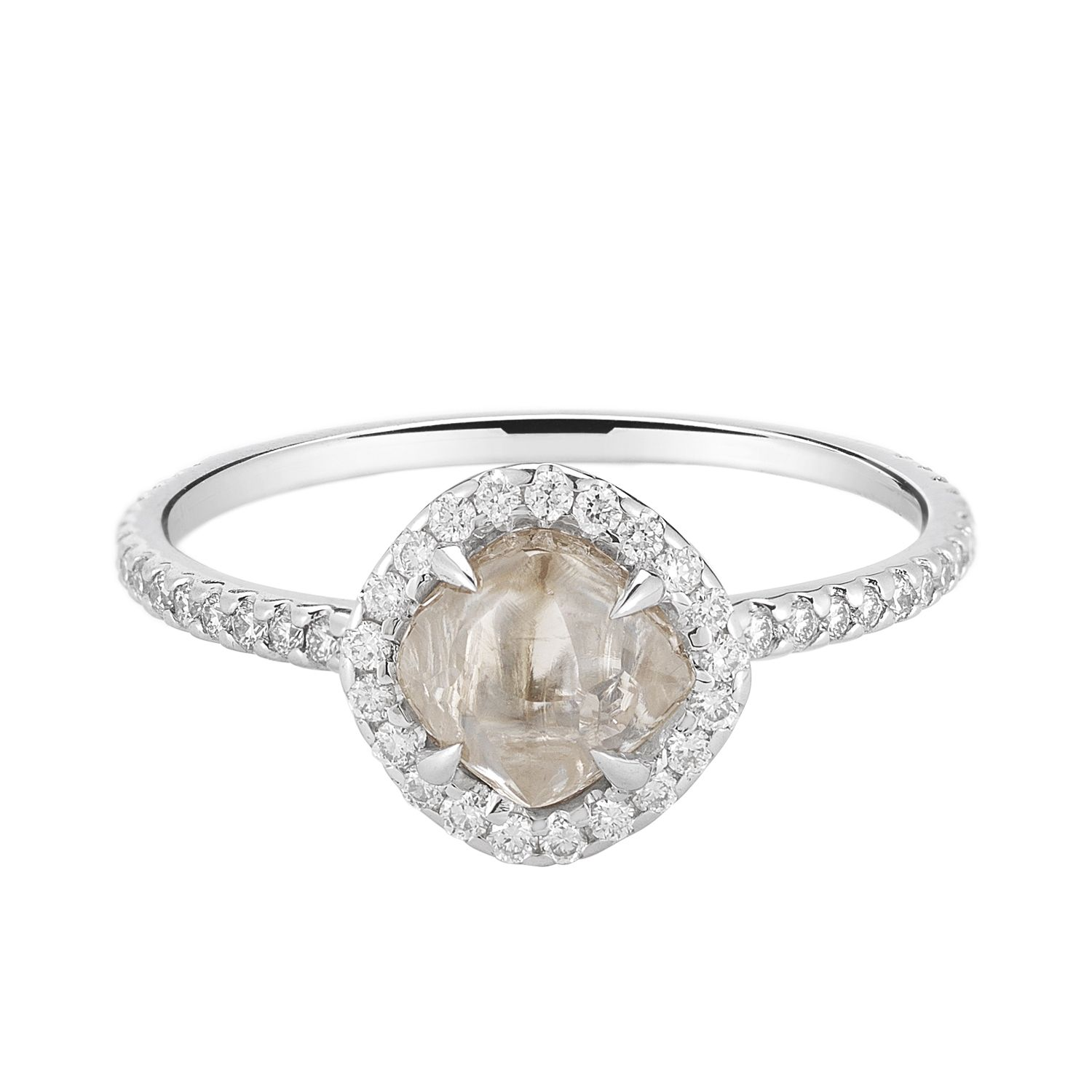 A Matte Rough Diamond makes for a oneofakind bridal