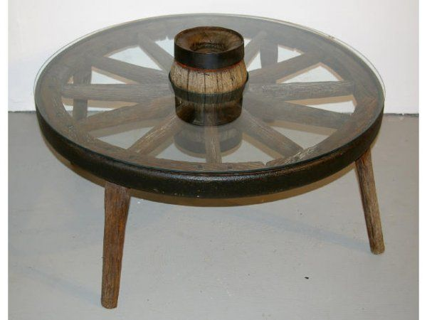 Delicieux Wagon Wheel Table | 490A: Wagon Wheel Coffee Table : Lot 490A