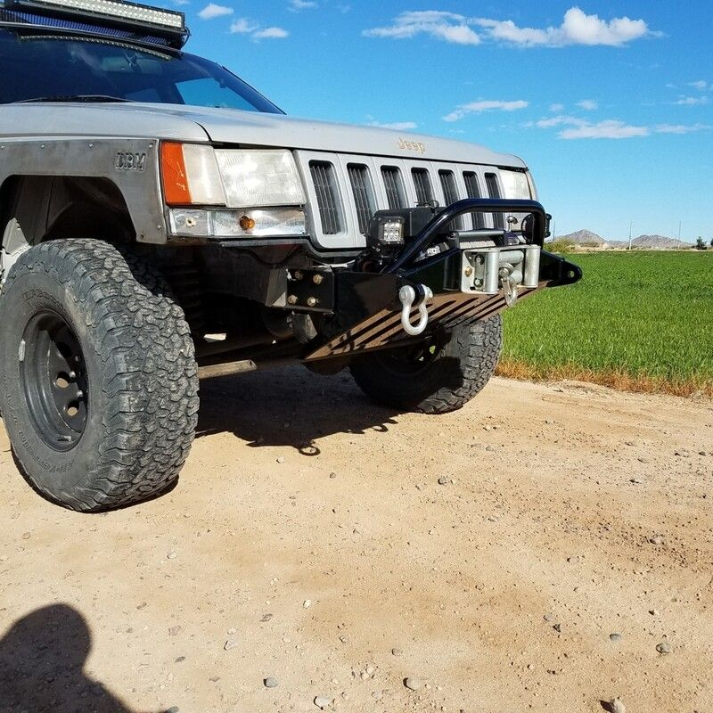 Zj 93 98 Jeep Grand Cherokee Zj Stubby Winch Bumper Jeep Grand Cherokee Zj Jeep Grand Cherokee Jeep Grand