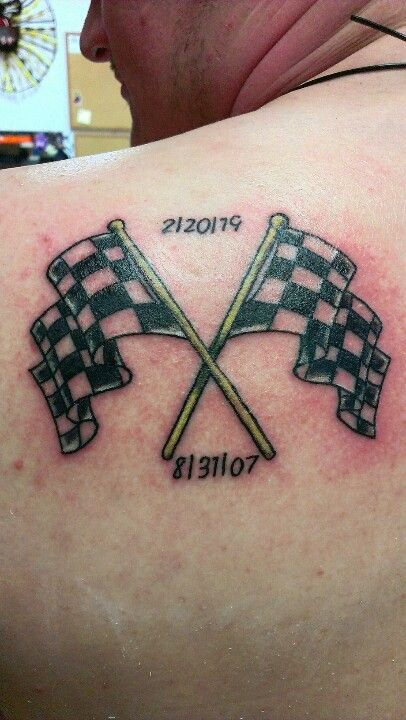 Checkered Flag Tattoo Tattoos Tattoo Catalog Girl Back Tattoos