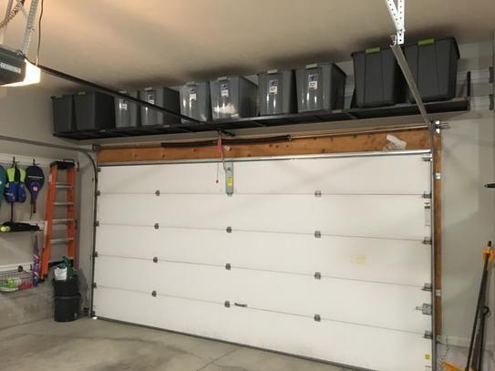 Photo of Gladiator Premier Series 45 in. W x 20 in. D GearLoft Steel Garage Shelf in Hammered Granite – Einrichtungsideen