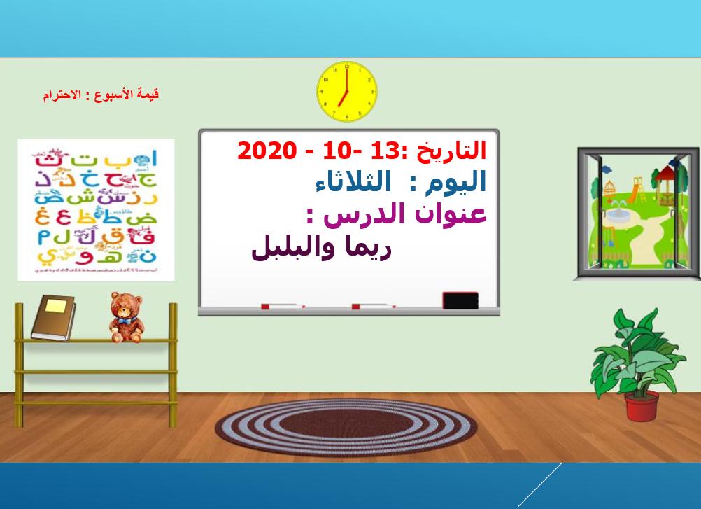 بوربوينت درس قصة ريما والبلبل للصف الثالث مادة اللغة العربية Gallery Wall Decor Frame
