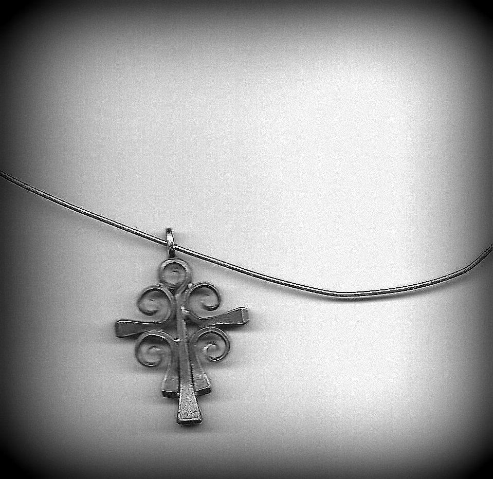 Irish Cross made from horse,shoe nails
