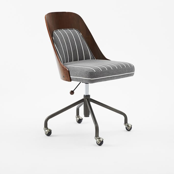 Gentil Our Stylish Bentwood Office Chair + Cushion Combines A Curved Frame With An  Upholstered Seat. Set Atop A Swiveling Metal Base, Itu0027s A Smart Choice For  A ...