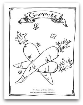 Free Vegetable Garden Coloring Books Printable Activity Pages For Kids