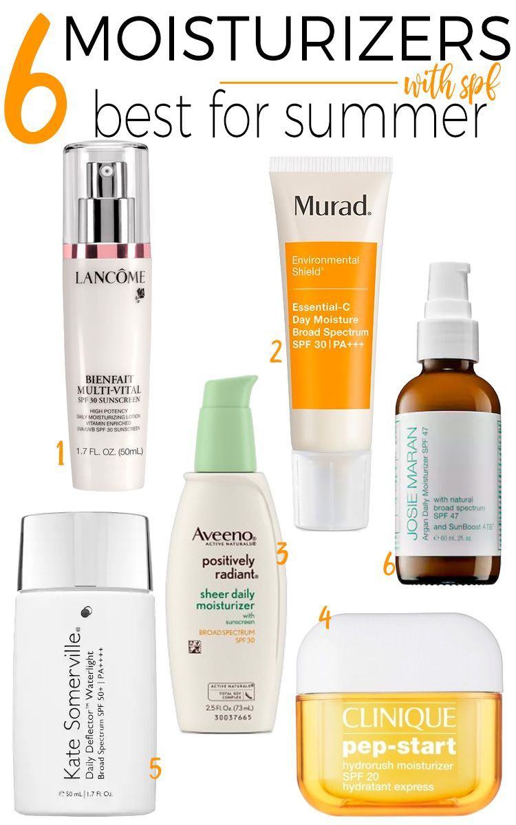6 Moisturizers With Spf That Are Best For Summer Skincare Dryskin Moisturizer With Spf Moisturizer Summer Skincare