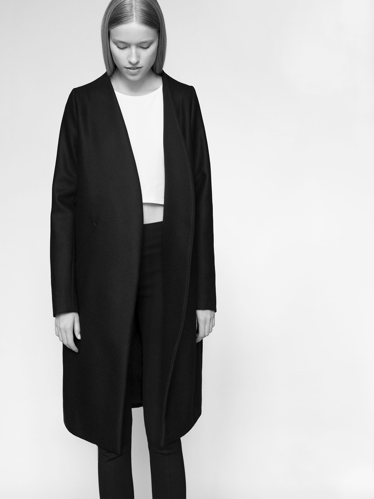 NON coat 100% finest merino wool fabric. Photographed by Kasia Bielska. thisisnon.com