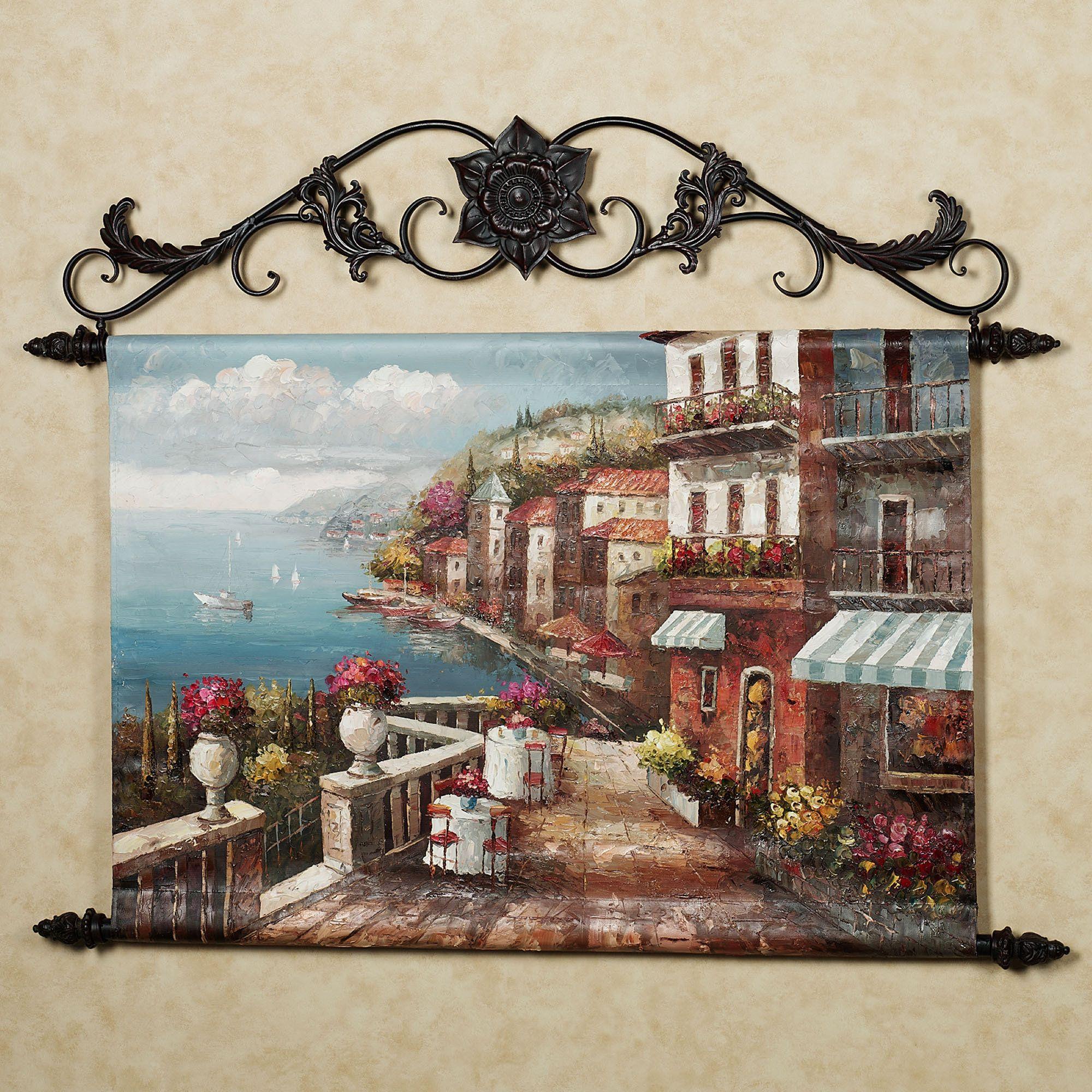 Mediterranean Kitchen Kirkland: Rialto Market Canvas Wall Hanging