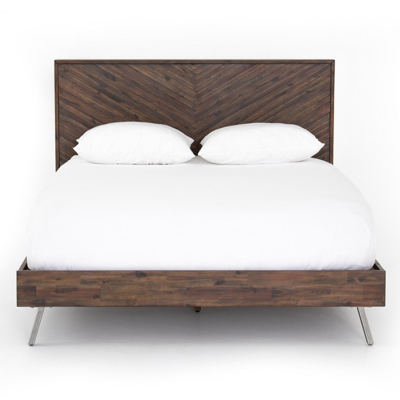 Bed Frame Parts >> Harrington Wood King Size Platform Bed In 2019 Beautiful Beds