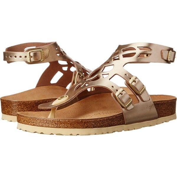 Birkenstock Jakarta Sandals, Gold ($88) ❤ liked on Polyvore ...