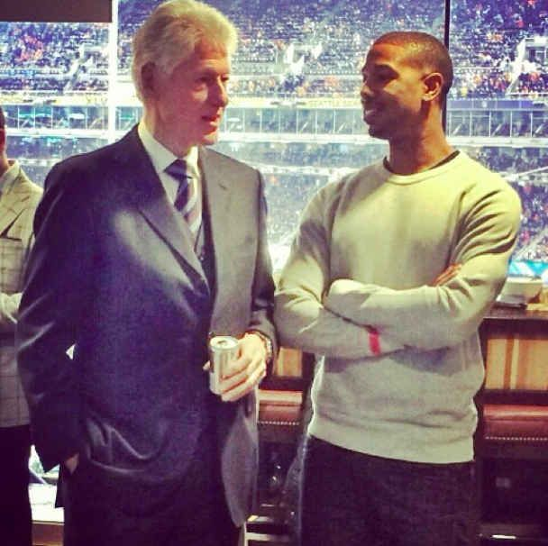 Image result for michael b jordan and clinton