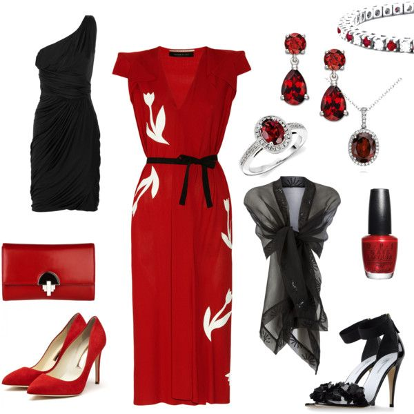 Red and Black, created by sallyv55 on Polyvore