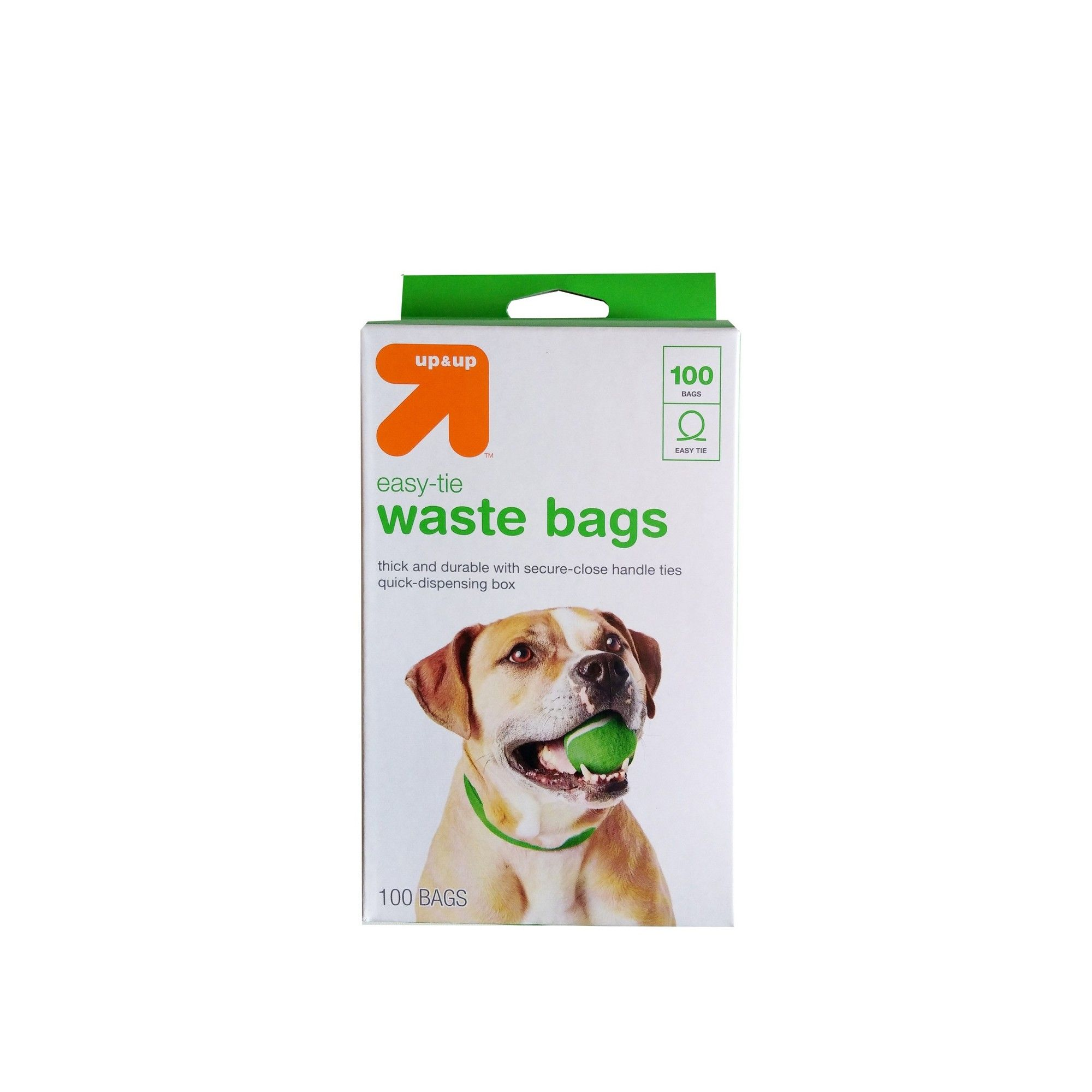 Dog Waste Disposal EasyTie Handle Bags 100ct Up&Up
