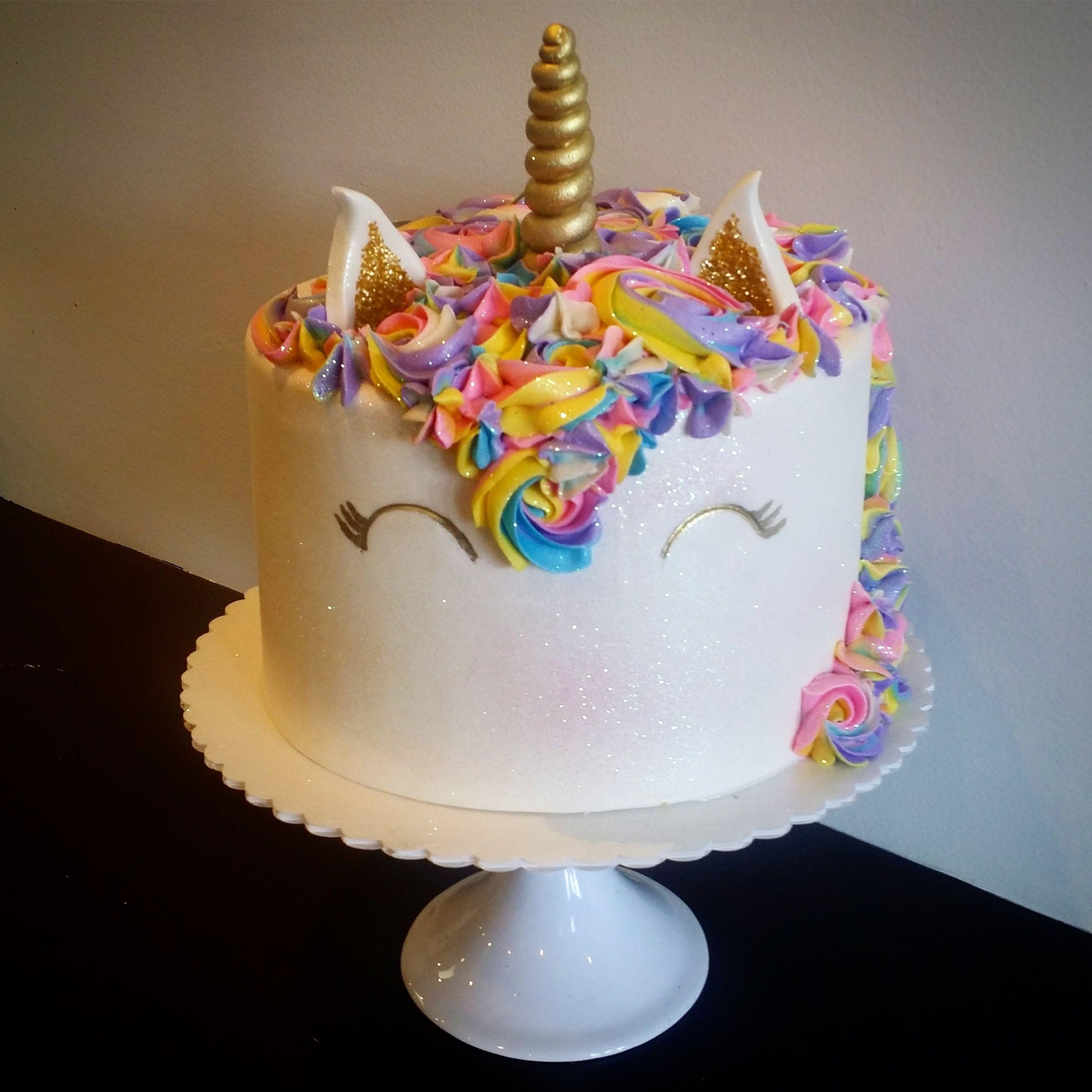 9 Inch Unicorn Cake Cakes 1st Birthday Parties Birthdays