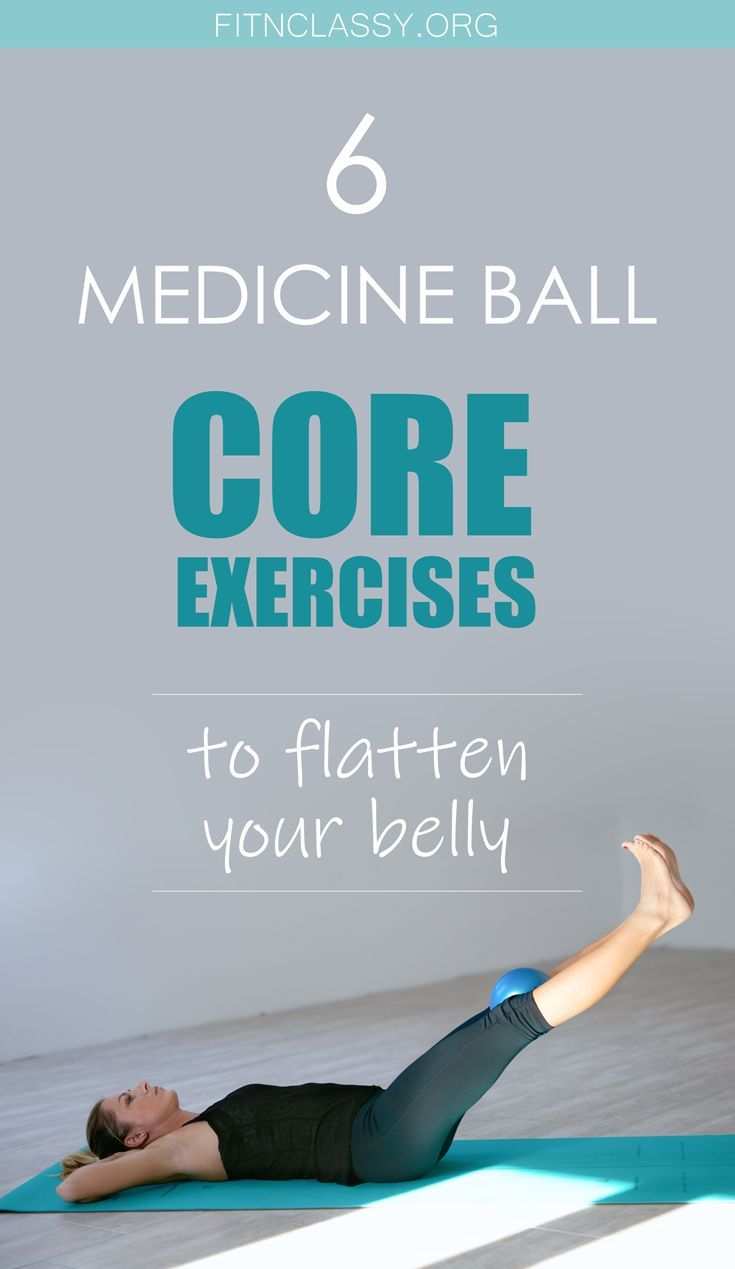 6 medicine ball core exercises to flatten your belly. #fitness #coreexercises #strongabs #flatstomac...
